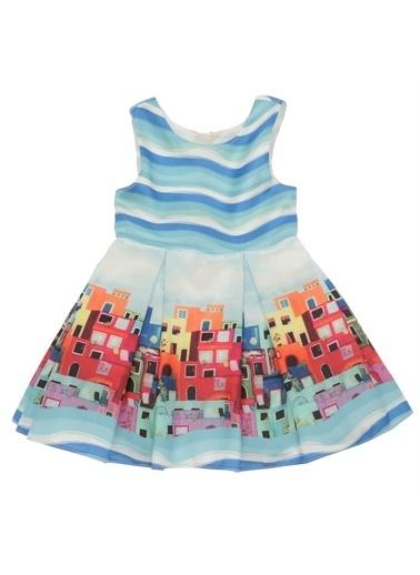 Panço Elbise 19126356100 Mavi
